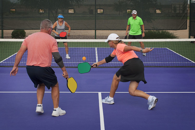 Pickleball Action - Mixed Doubles Play
