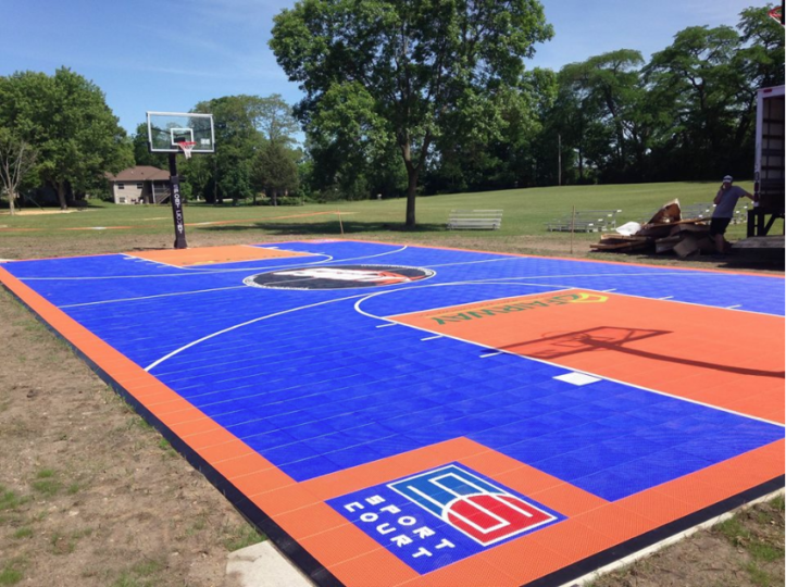A court installed this summer in Portage, Wisconsin