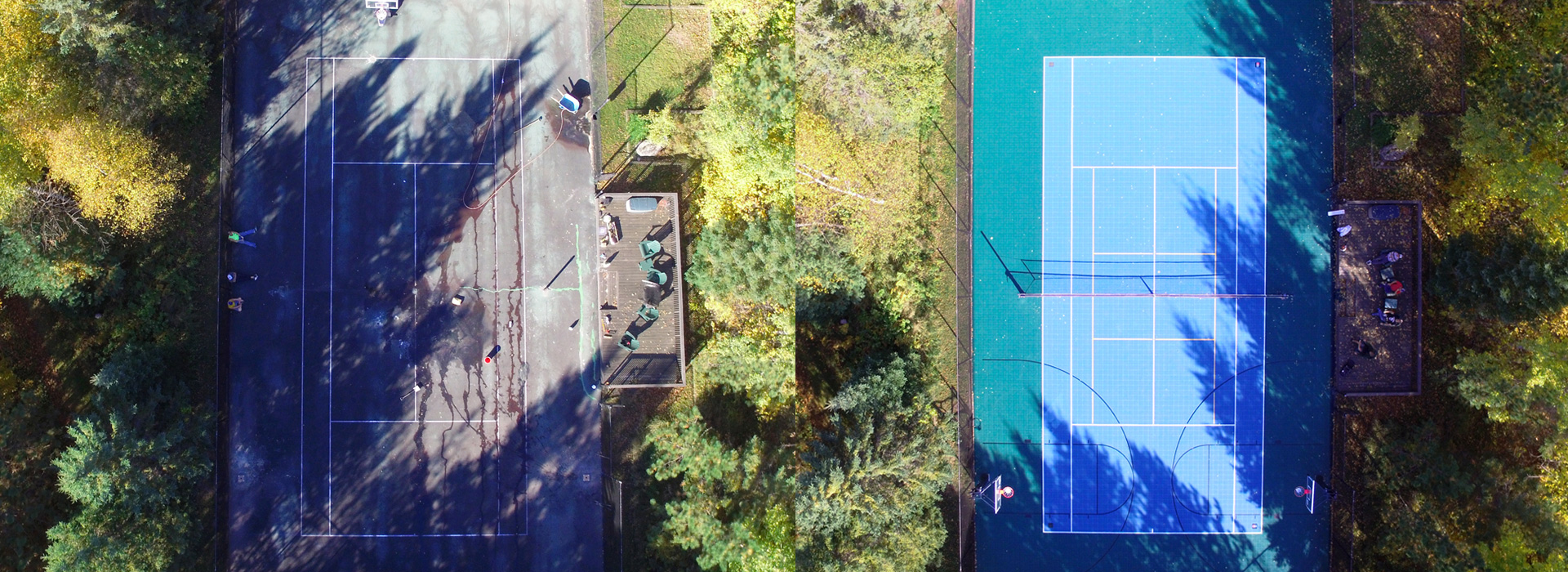 Before & After - Tennis Court - Sport Court North